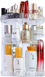 Mecool Organizador de maquillaje de gran capacidad, redondo, transparente, rotación de 360 grados, caja de almacenamiento ...