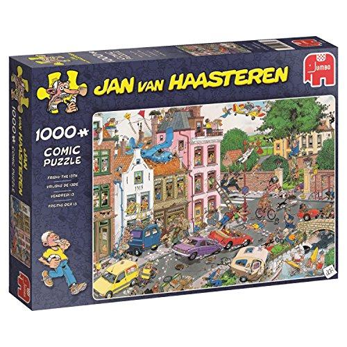 Jumbo Spiele GmbH 19069 Jan Van Haasteren 1000 Teile Puzzle Freitag der 13, Mehrfarbig