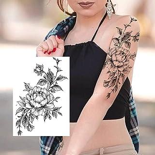 Tijdelijke Tatoeages 3 Vellen Sexy Bloem Tijdelijke Tatoeages Voor Vrouwen Body Art Schilderen Arm Benen Tatoeages Sticker...