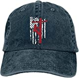 Bikofhd Men Women Vintage Jeans Baseball Caps Adjustable Strap Low Profile American Flag Lineman Hiphop Cap Style4042