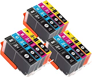 Tigtak 364 XL Reemplazo para HP 364XL 364 Cartuchos de Tinta Compatibles con HP Photosmart 5510 5520 5522 6520 B8550 C5388 HP Officejet 4620 de HP Deskjet 3070A 3520 (12 Pack)