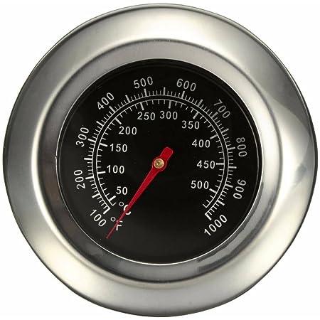 Jzhen Thermomètre de Four en Acier Inoxydable Thermomètre pour BBQ