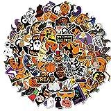 DSSJ Adesivi Zucca Halloween Cute Cartoon Lanterna Chitarra Casco Moto Laptop Skateboard Bike Sticker 100 Pezzi
