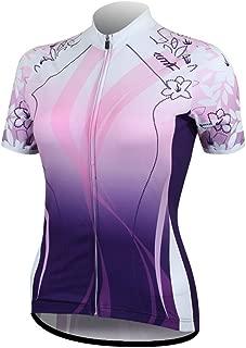 Santic Women's Full-Zip Short Sleeve Cycling Jersey Purple
