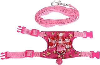 Small Rtengtunn Set di guinzagli per Imbracatura di Coniglio di Criceto per Cinturino per Piccoli Animali Furetto Guinea Pig Pig 2