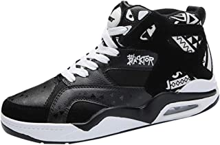 Men's Ventilation High-top Sports Basketball Shoes Air Cushion Hip-Hop Shock Absorption Skid Gym Sneakers