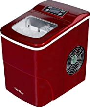 Northair Countertop Ice Maker Machine Up to 26lbs/Day with LCD Display, Portable Compact Electric Ice Machine - 9 Ice Cube Making in 6 Minutes for Parties, RV, Camping Vacations and Boat Trips (Red)