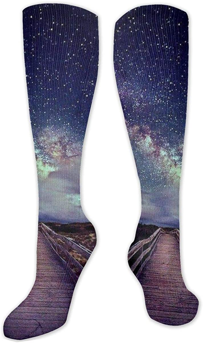 On A Trail Stars Knee High Socks Leg Warmer Dresses Long Boot Stockings For Womens Cosplay Daily Wear
