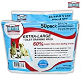 Extra Large Pet Wee Pads - Housebreaking Pads for Small to Large Dogs - Piddle Pads for Dogs Stuck Indoors - Waterproof Puppy Pads Dog Training - 50 Odor Control Pee Wee Pads, by True Pet Love