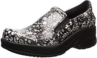 Easy Works Women's Appreciate Health Care Professional Shoe, Black Florl, 7.5 2W US