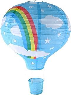 Diseño de arco iris y globo tamaño grande lámpara de techo (lámparas esféricas de papel para lámpara) - azul