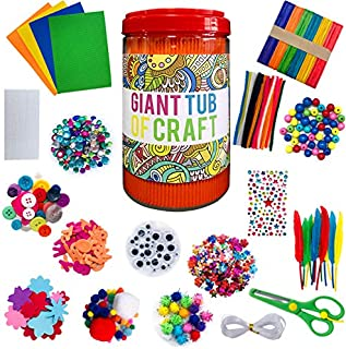 Seilent Kids Arts and Crafts Supplies,DIY Handmade Material Package Creative Material Toy Set for Kindergarten School Home Projects Craft Supplies with Pipe Cleaners for Boys Girls