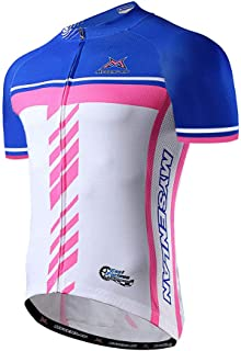 Mysenlan Men's Cycling Jersey Short Sleeve Shirts Bike Bicycle Breathable Riding Sports Jerseys