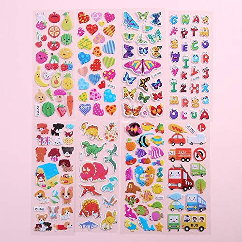 Stickers 3D Different Cartoon Animal Waterproof DIY Baby Toy for Children Boy Girl STICK Toys Gift