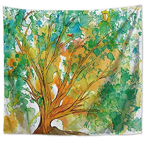 Hermoso bosque natural impreso tapiz de pared grande de hippie colgante de pared tapiz de pared bohemio tela de fondo a2 150x200cm