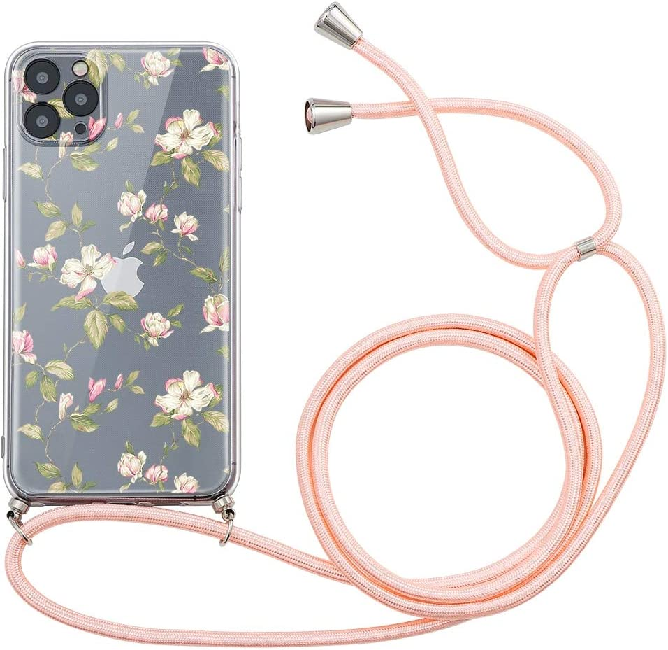 Yoedge Crossbody Case for OnePlus 9 (5G), Transparent Neck Cord Phone Case with Adjustable Lanyard Strap, Soft TPU Silicone Cover Compatible with OnePlus 9 5G [6.55