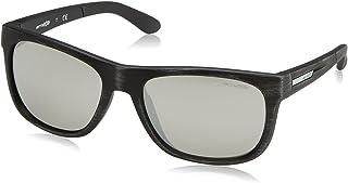 Arnette Men's Fire Drill Lite Non-Polarized Iridium Square Sunglasses, MATTE SILVERY BLACK, 57 mm