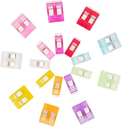 37d7460d1b9c0 HOOMIL Multipurpose Sewing Clips Plastic Quilting Craft Clips for Sewing