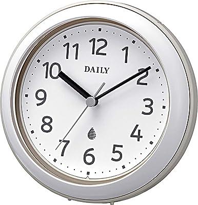 リズム(RHYTHM) 掛け時計 置き時計 防水 防塵 アクアパークDN グレー Φ11.8x4.8cm 4KG711DN08