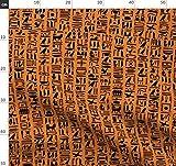 Orange Und Schwarz, Ägypten, Ägyptisch, Schreiben,