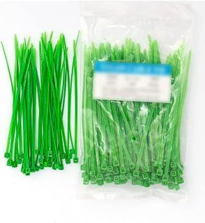 Amandakasa ガーデンタイ プラスチック プラントワイヤー バインディング ガーデニング 12インチ ツイストネクタイライン ガーデンツリートレーニング グリーン プラント カバー サポート