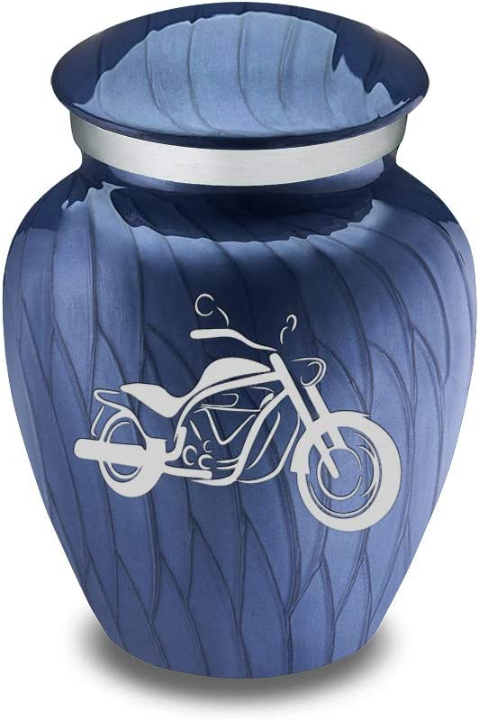 GetUrns Beauty products Keepsake Embrace Motorcycle Pearl Urn Cobalt Cremation Free Shipping New