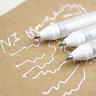 SELFON Pastel White Gouache Ink Gel Pen Ballpoint pen Drawing Stationery For Decorative Diary Card Marking DIY