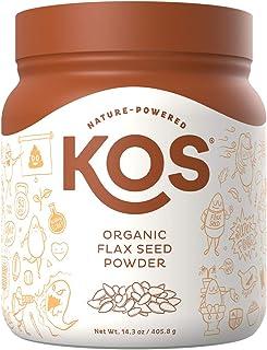 KOS Organic Flax Seed Powder - Raw, Gluten Free, Ground Flax Seed Powder - USDA Organic, Vegan Egg Replacement , Plant Bas...