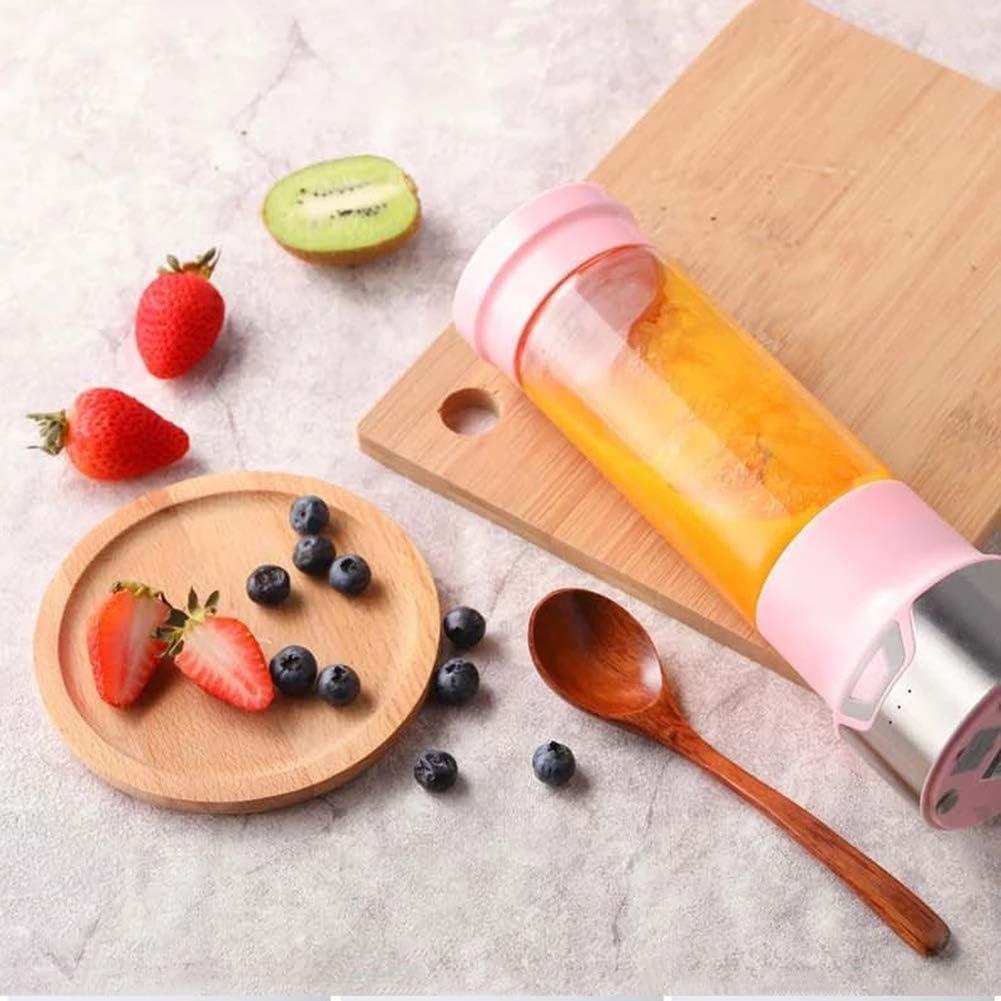 YONGCHY Botella de 350 ml Mezclador de Cristal Exprimidor Frutas portátiles Mezclador para Picar Carne Jugo del Fabricante de la máquina Jugo de Regalo de la Taza Inicio,Verde Pink