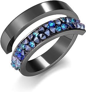 Open Ring for Women Adjustable Stainless Steel Rings...
