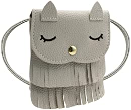 ZGMYC Kids Toddlers Cat Tassel Crossdy Bag Small Shoulder Purse Gift for Little Girls