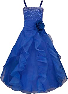 e7c6e3f9b9c YiZYiF Enfant Fille Robe Mariage Robe Demoiselle d honneur Bustier Robe  Paillettés Jupe Longue Robe