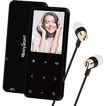 【Newiy Start】mp3プレーヤー Bluetooth5.0対応 sdカード対応 合金製 超軽量 無損音質 デジタルオーディオプレーヤー 8GB内蔵容量 最大128GBまで拡張可能 音楽プレーヤー 小型 FMラジオ 歩数計 AUXケーブルダイレクト録音対応