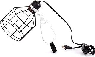 REPTI ZOO E26 5.5 Inch Deep Reptile Lamp Fixture Wire Style Reptile Basking Light Lampshade
