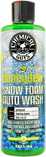 Chemical Guys CWS_110_16 Honeydew Snow Foam Car Wash Soap (Works with Foam Cannons, Foam Guns or Bucket Washes), 16 o...