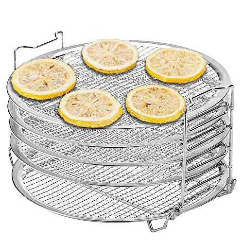 L.BAN Stand for Ninja Foodi Pressure Cooker and Air Fryer, Food Grade Stainless Steel Dehydrator Rack, 1 Pack/Set, 6.5 8 Qt