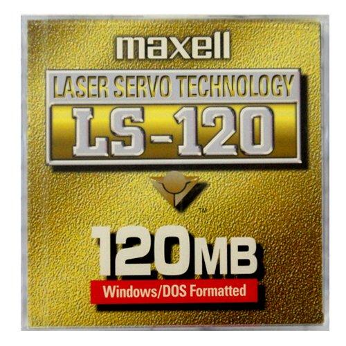 マクセル SuperDisk (スーパーディスク) 120MB ブラック 1枚 Windowsフォーマット済 LS-120.M.1P