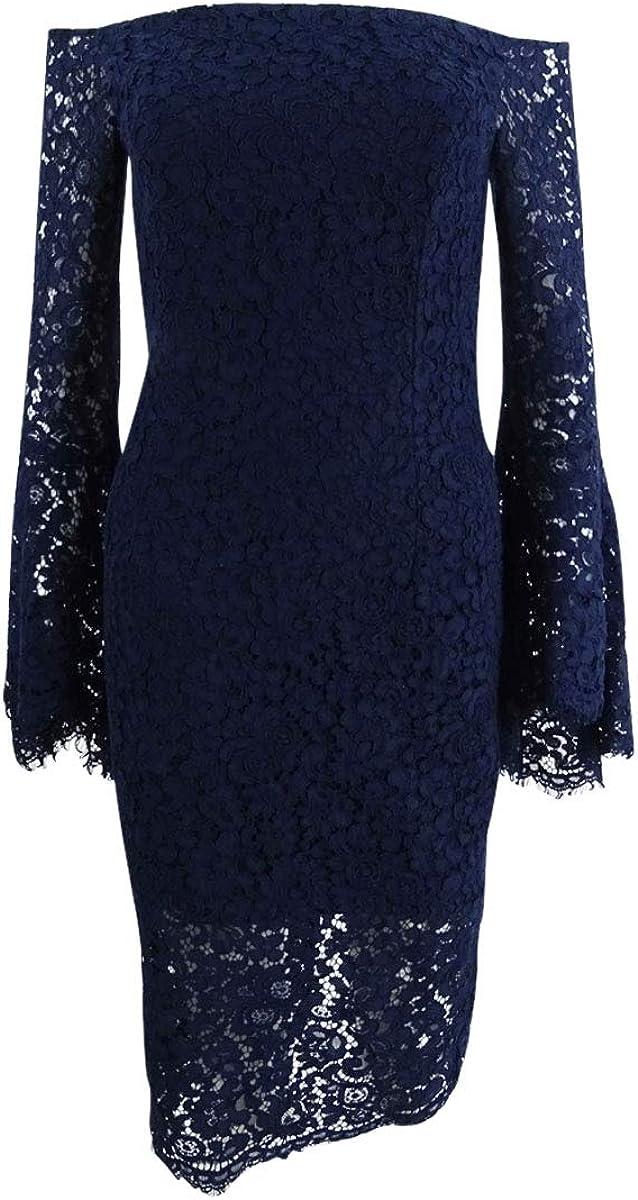 Bardot Women's Solange Lace Dress, French Navy, X-Small