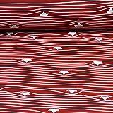 Nano Softshell Fiete von Swafing, Schiffe, rot (Meterware