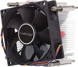 مروحة تبريد وحدة المعالجة المركزية JHMJHM 4Pin وحدة المعالجة المركزية صامتة مروحة بالوعة الحرارة ل Intel 1155/1151 / i3 / ...