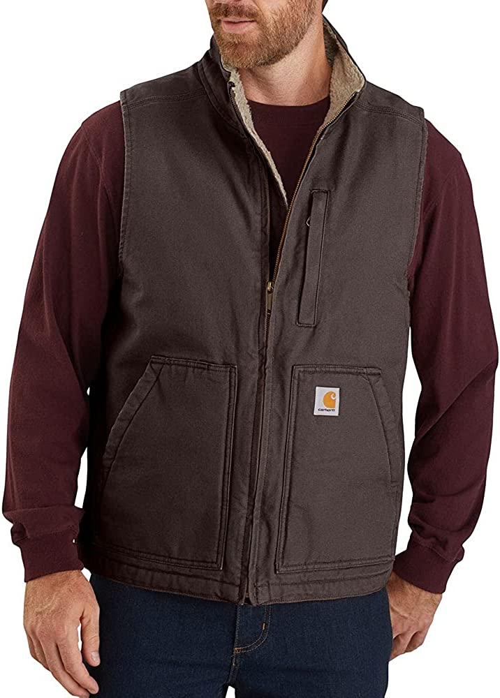 Carhartt Men's Sherpa Lined Mock-Neck Vest
