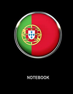 Notebook. Portugal Flag Cover. Composition Notebook. College Ruled. 8.5 x 11. 120 Pages.