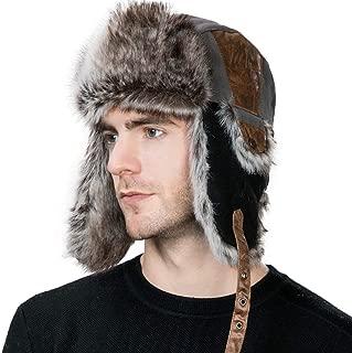 Unisex Winter Trapper Hat Faux Fur Windproof Ushanka Russian Hunting Hat Outdoor Ski with Ear Flap