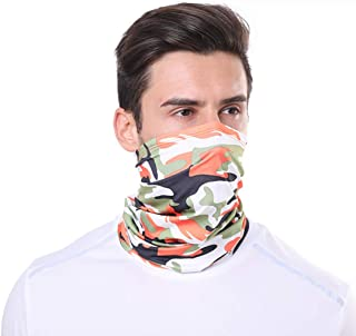 Sun UV Neck Gaiter Face Scarf Bandanas for Men Women for Sports,Ice Silk Cooling Sports Face Scarf for Dust Outdoors