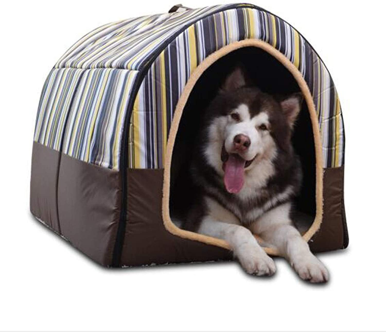 NYDZDM Pet beds Kennel Cat Litter, Small And Medium Dogs Bed Pet Mat, Can Be Removed And Washed (color   BROWN, Size   L)