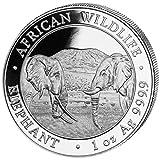 Somalia Elefant 1 Unze Silbermünze 2020 in Münzkapsel -