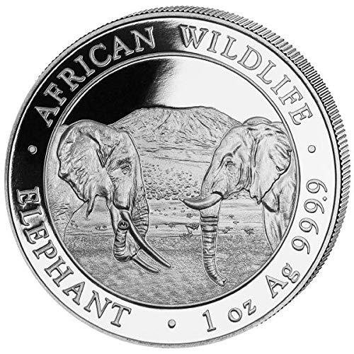 Somalia Elefant 1 Unze Silbermünze 2020 in Münzkapsel