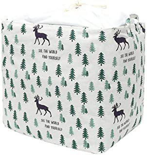 YINGD Household Storage Bag - Clothes Blanket Quilt Luggage Toy Bag with Beam Mouth Waterproof Closet Storage Bag (Low Whi...