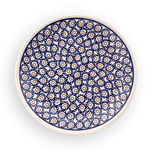 Original Bunzlauer Keramik Flacher Teller (Frühstücksteller) Ø=19,5 cm im Retro-Dekor 4