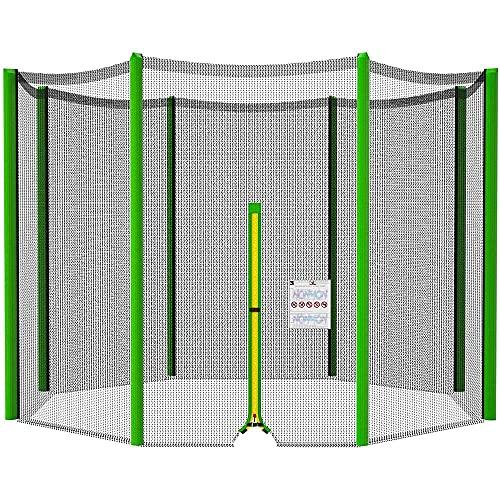 Red de repuesto para cama elástica, red de repuesto para cama elástica de jardín, Accesorios de trampolín, resistente a los rayos UV,244cm de diámetro, 305 cm de diámetro, 366 cm, 6/8 barras